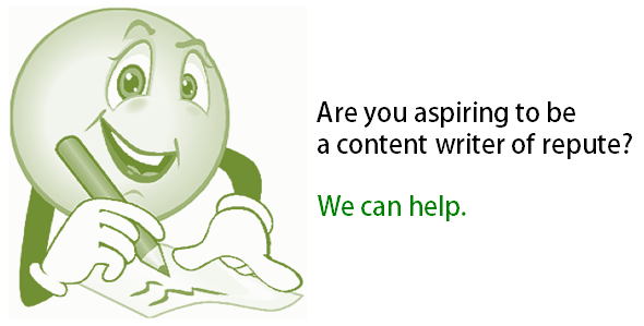 We help you become content writer of repute