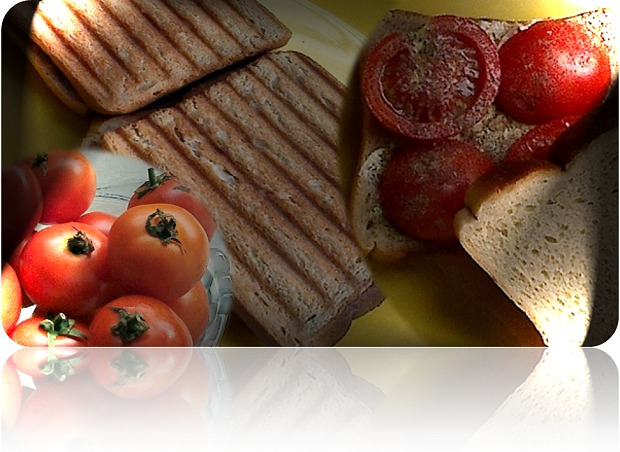 Steps for making grilled tomato sandwich explained