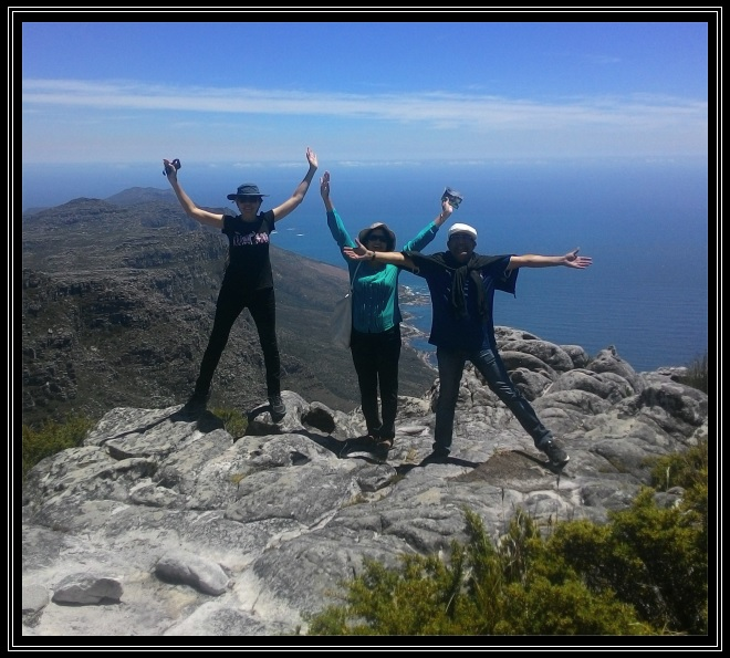 On top of Table Mountain, December 2015