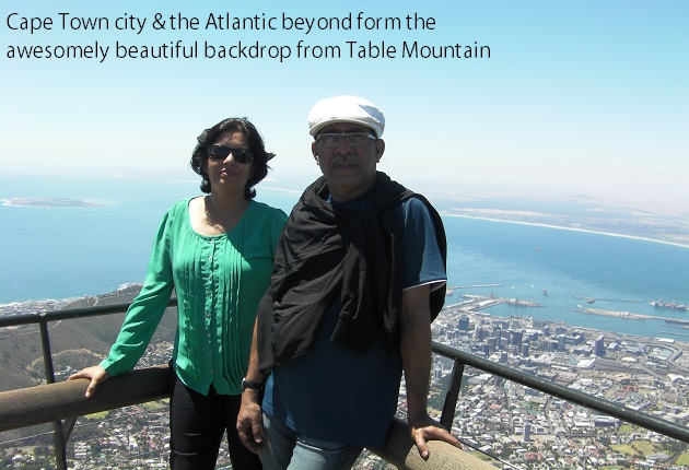 Awesome scene from Table Mountain, Cape Town