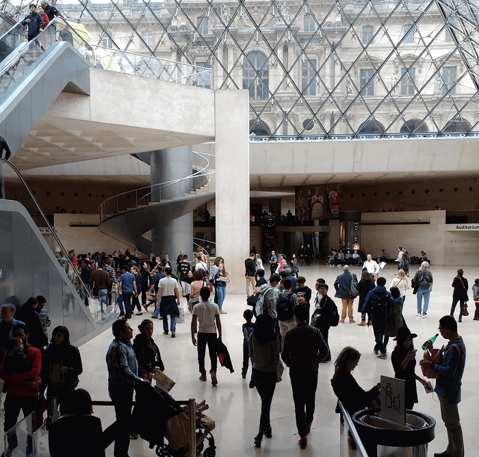 Inside Louvre Museum, the largest in the world