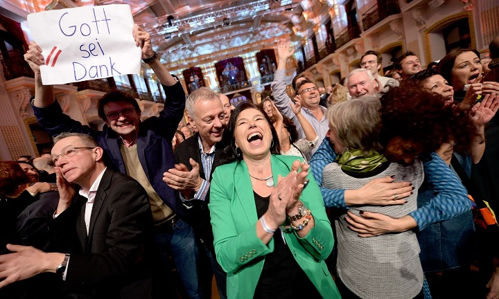 Celebrations after Austria elects President defeating far-right candidate