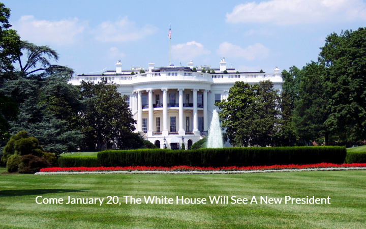 New president comes to the White House on Jan 20