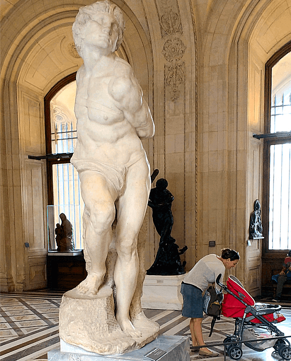 Rebellious Slave by Michelangelo at Louvre